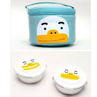 Kakao Friends 2 Step Portable Circle  Stainless Steel Food Snack Tray Lunch Box
