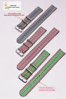 peacock blue green pink Section 2 nylon watch band watch strap watch