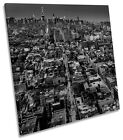 Streets of New York City B&W CANVAS WALL ART SQUARE Picture Print