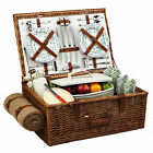 Picnic at Ascot Dorset Picnic Basket for 4 with Blanket