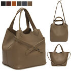 CELEBRITY PICO CROSS STRAP STYLE TOTE SHOULDER BAG PURSE REAL COWHIDE LEATHER