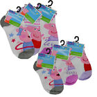 6 PAIR Peppa Pig Girls Kids Pink Anklet Socks Sizes 4-6 / 6-8 Shoe 7-10 / 10.5-4