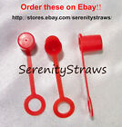 """Drinking Straw CAPS for 3/8"""" Diameter """"Tervis"""" Type Straws, 5 Colors."""