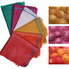 100 NET SACKS WOVEN MESH BAGS VEGETABLES LOGS KINDLING WOOD LOG 35x 50cm -5-10kg