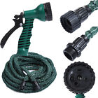 Deluxe 25 50 75 100 FT Flexible Garden Water Hose with Spray Nozzle