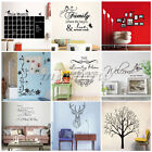 Quote Family Wall Decal Art Stickers Mural Home Vinyl Black Room Family Decor