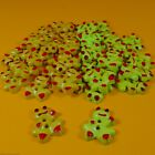 Lime or Green Happy Little Frogs - 2 Hole Buttons - 24 per bag - 15mm x 18mm