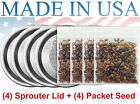 Sprouter Kit With LID - Organic Super Diet Sprouting Seed (1G/ 1LB)