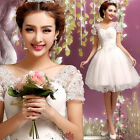 L281 New Formal Wedding Prom Party Bridesmaid Evening Ball Gown Gift Dress-White