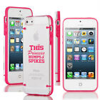 For iPhone Slim Clear TPU Hard Case This Princess Bumps & Spikes Volleyball