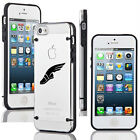 For iPhone SE 5 5s 6 6s 7 Plus Slim Clear TPU Hard Case Track & Field Wing Shoe