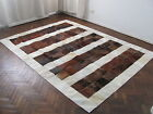NEW COWHIDE PATCHWORK RUG COW HIDE LEATHER CARPET T_7184