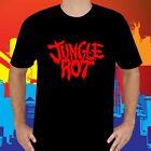 New Jungle Rot Death Metal Band Logo Men's Black T-Shirt Size S to 3XL