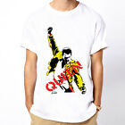 Queen-Freddie Mercury Classic Rock Band unisex white t-shirt