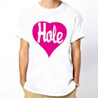 Hole Heart COURTNEY LOVE punk rock band unisex white t-shirt
