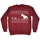 Christmas Lunch For T-Rex SWEATSHIRT Dinosaur Santa Father Top Funny Xmas