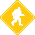 "Bigfoot Crossing Decal BIG 5.5"" Yeti Sasquatch XING Sign Sticker FREE S&H!"