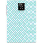 Blue & White Repeating Patterns Hard Case For Blackberry Q30 Passport