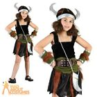 Viking Girl Costume Warrior Girl Fancy Dress Book Week Outfit + Helmet Ages 5-10