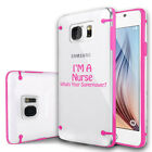 For Samsung Galaxy S7 S6 Edge Note Clear Hard TPU Case Cover Nurse Super Power