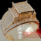 14K ROSE GOLD FINISH REAL LAB DIAMOND LADIES WOMENS ENGAGEMENT WEDDING RING BAND