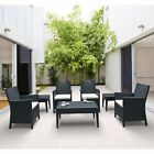 Siesta California Unwoven Wickerlook Resin 7-Piece Patio Seating Set