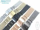 22MM STAINLESS STEEL SHARK MESH BRACELET Watch Ø1.2mm multicolored new wristband