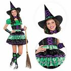 Kids Wicked Cool Witch Girls Halloween Party Fancy Dress Teen Costume Outfit NEW