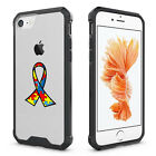 For iPhone 6 6s 7 Plus Clear Shockproof Case Cover Autism Awareness Ribbon Color