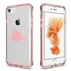 For Apple iPhone 6 6s 7 Plus Clear Shockproof Bumper Case Cover Baby Elephant
