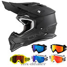 O'Neal 2series RL flat matt schwarz Helm Crosshelm MX Motocross Cross Brille