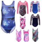 Gymnastics Leotards Girls Metallic Velvet Ballet Skate Bodysuit Dancewear 3-12Y