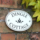 Oval House Sign, FARROW & BALL House Number, Cottage House Sign with stand-offs