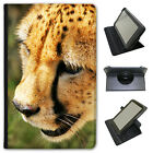 Wild Cat Cheetah Universal Folio Leather Case For Linx Tablets