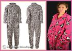 Ladies Fleece, Play Suit, Jump Suit, Animal Print, Pink Panda, Size 8-20