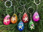 New Arrival Fashion Cute Waterdrop Inlay Starfish Faux Amber Keychain 6 colors