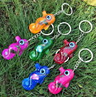 New Arrival Fashion Cute Hippocampus Faux Amber Keychain 6 colors