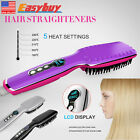 Hair Straightener LCD Iron Massager Tool Comb Brush Electric Auto Hot Sell US