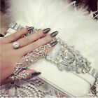 New Fashion Punk Rock Gothic Gold Silver Double Full Finger Knuckle Armor Ring