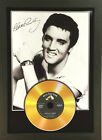 ELVIS PRESLEY SIGNED PHOTOGRAPH WITH YOUR CHOICE OF GOLD DISC. FRAMED.