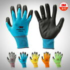 1-12Pairs 3M Comfort Grip Nitrile Foam Coated Protective Safety Glove 5-Colors