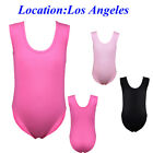 Girls Gymnastics Leotard 3-14Y Kids Cotton Ballet Dance Bodysuit Youth Skating