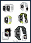 New Color Style Sports Silicone Strap Band Apple Watch 38/42mm Clear Case 2/1