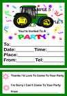 TRACTOR/DIGGER PARTY INVITATIONS /INVITES /ENVELOPES x10 Ref BTRK1-05