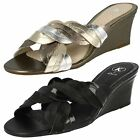 Ladies K by Clarks Wedge Heeled Mule Sandals - Saint Shine