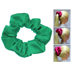 Green Full & Fluffy Scrunchies 3 Sizes Ponytail Holder Made in USA