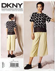 VOGUE PATTERN TOP LOOSE FITTING PULLOVER & PANTS STRAIGHT LEG SIZE 6-14 # V1492