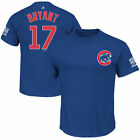 Chicago Cubs #17 Kris Bryant 2016 World Series Champions Name & Number T-Shirt