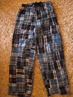 Boxercraft Youth Flannel Pants Blue patchwork size Youth Medium