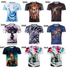 Popular Fashion 3D print Funny Women Men T Shirts Short Sleeve Hip Hop Tees Top